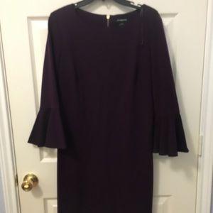 Deep purple fitted dress